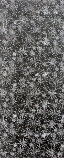 Cobwebs decoration fabric black