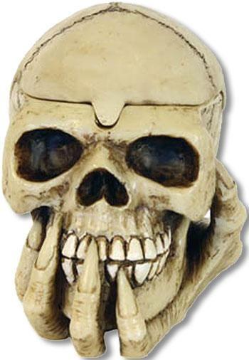 Skull in Hand Ashtray