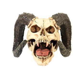 Vampirtotenkopf mit Hörnern