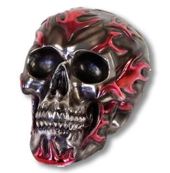 Skull with Pink Flames