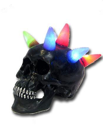 Totenschädel mit LED Mohawk