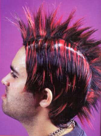 Irokesen Perücke Rot