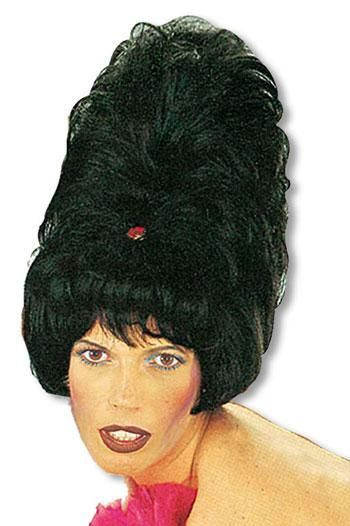 Sixties Beehive Wig Black