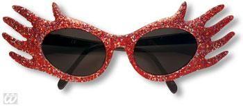 Space Jam Glitter Sunglasses Red
