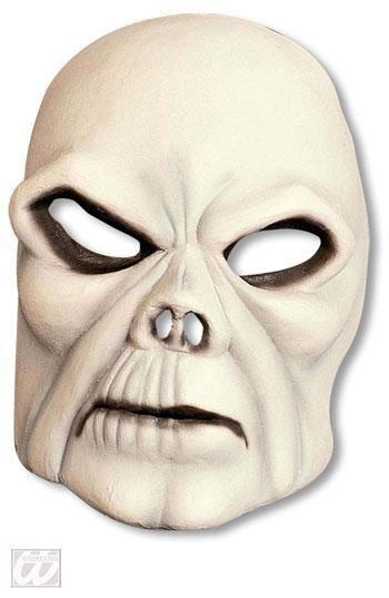 Bleicher Totenschädel Halbmaske