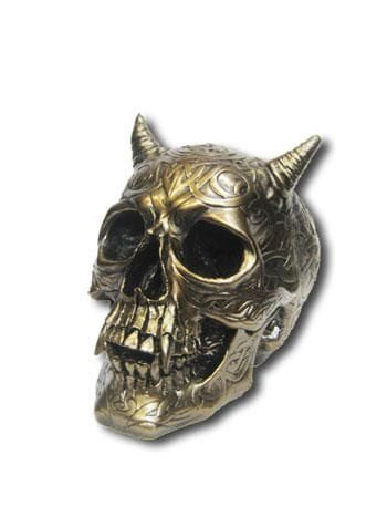 Bronze-Coloured Devil Skull