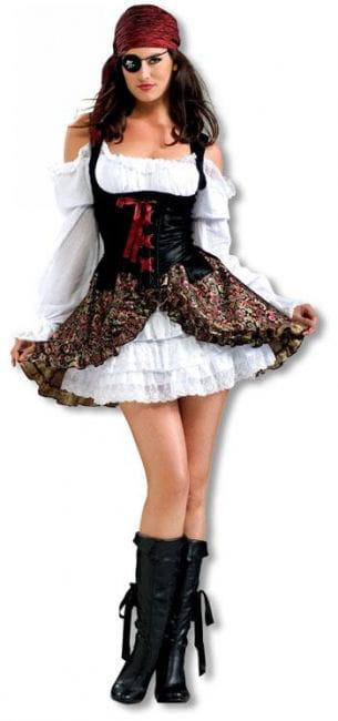 Heißes Piraten Babe Kostüm M