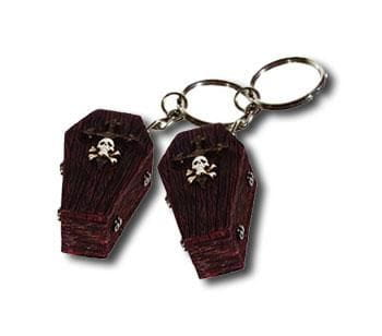 Horror Key Fob Coffin