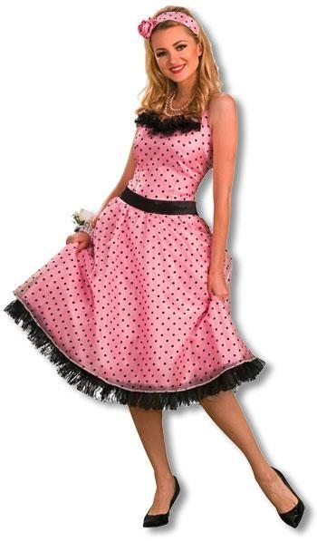 Polka Dot Abschlussball Kostüm L