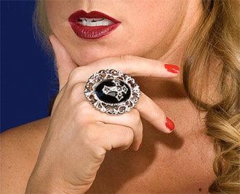 Gothic Cross Finger Ring