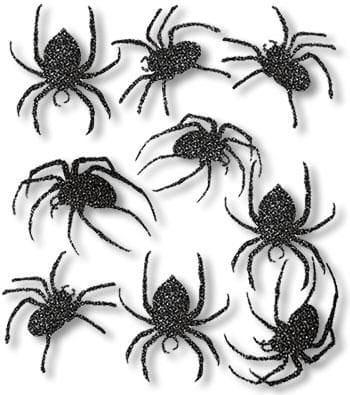 Black Glitter Spider Silhouettes