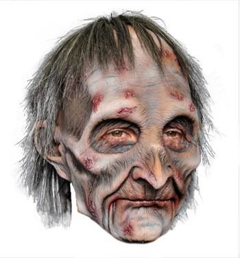 Zombie Grandpa Maske Premium