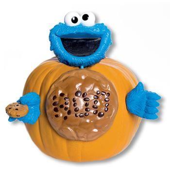 Cookie Monster Pumpkin Decoration