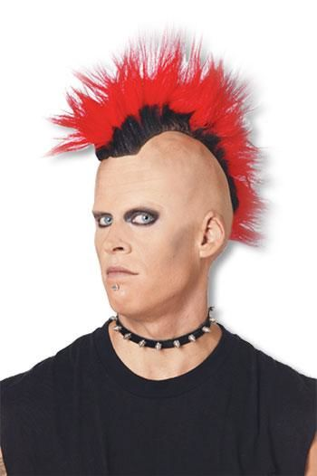 Mohawk Punk Wig red