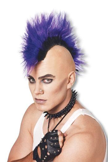 Mohawk Punk Perücke violett