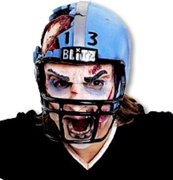 Football Spieler Halbmaske