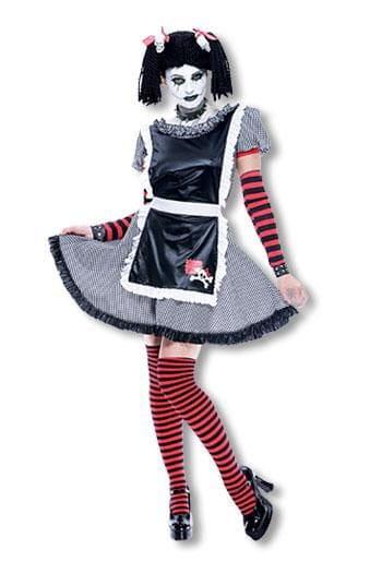 Gothic Rag Doll Costume L