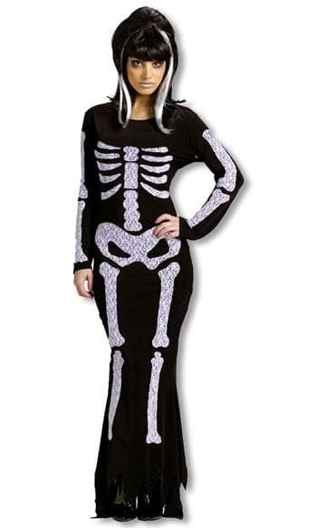Skeleton Dress Costume SM