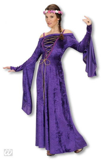 Medieval Damsel Costume Purple M