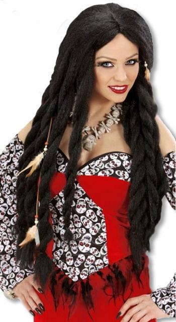 Voodoo Priestess Wig Black