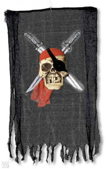 Piraten Totenkopffahne mit gekreuzten Schwertern
