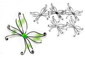 Grüne Schmetterlingsflügel