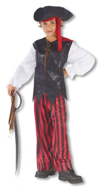 Caribbean Pirate Child Costume Medium