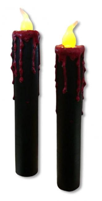 Blutende LED Kerzen 2er Set