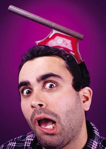 Blutige Axt Kopfschmuck