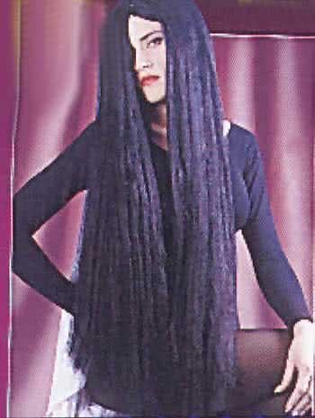 Vampiress Wig Black Super Long