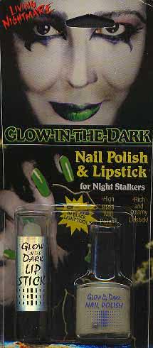 C: Lipstick and Nail Polish Glow in the Dark