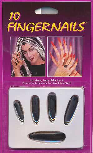 C: Black Finger Nails