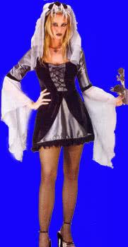 Sexy Wicked Bride Kostüm Gr. 36-38 S/M