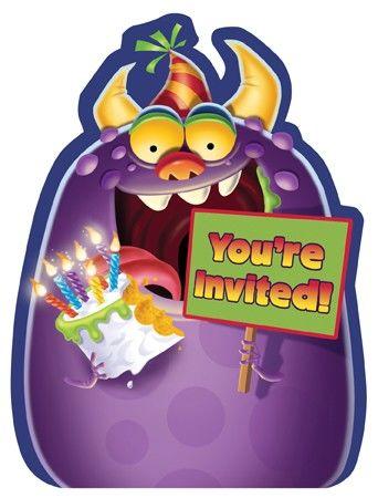 Monsterparty Einladungskarten