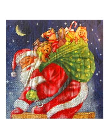 Napkins with Santa Claus Theme