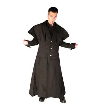 Coachman's Coat Black Cotton Size M