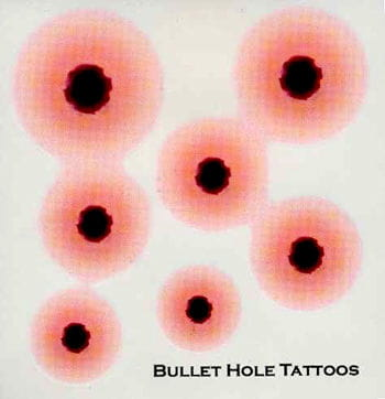 Tattoo bullet holes