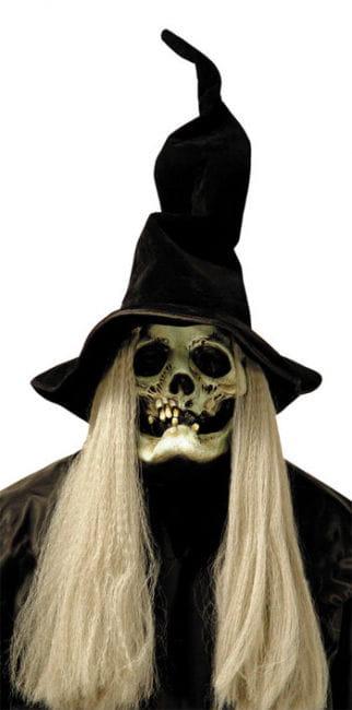 Hexenmaske mit Hut und Haar