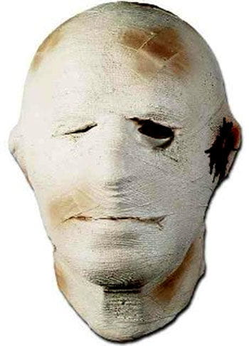 Mummy mask made of foam latex