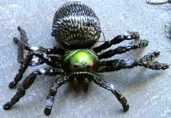 Hanging Spider 7cm