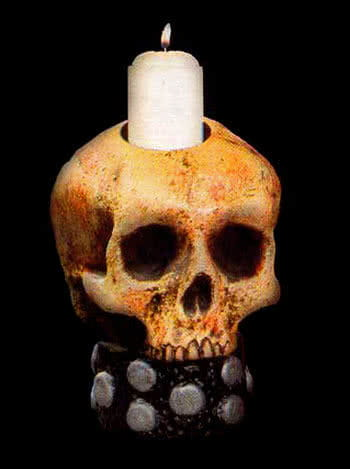 Skull Candle Holder