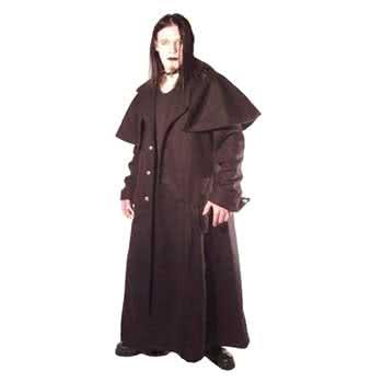 Box coat black wool Gr. XL