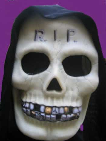 Glow in the Dark Mask C Gold Tooth