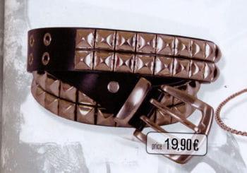 Nieten Gürtel schwarz 120cm