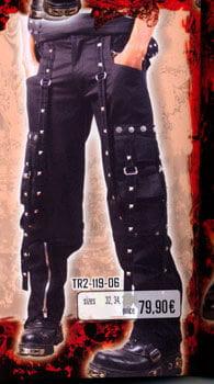 Black Pin Striped Bondage Trousers Size 32