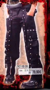 Nadelstreifenbondage black trousers size. 34