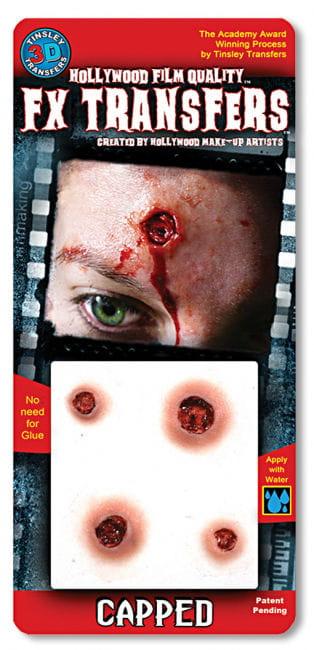 3D Tattoos gunshot wounds