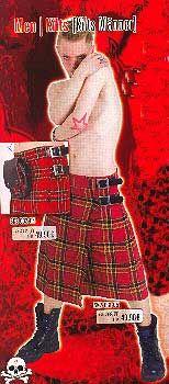 Red Kilt Size 32