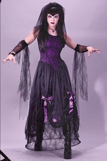 Rockstar Zombie Widow Costume ML