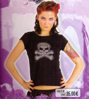 Black Top, Rivet Skull Size M